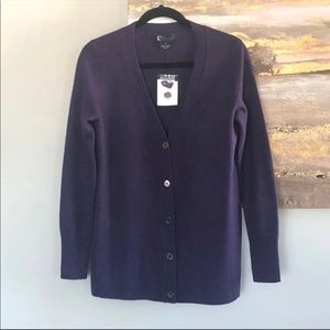 C by Bloomingdale's Cashmere Grandfather Cardi NWT